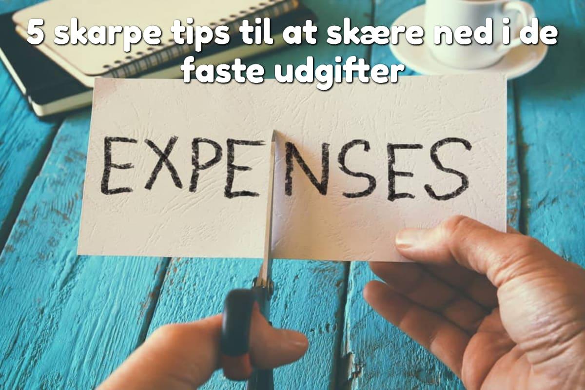 5 skarpe tips til at skære ned i de faste udgifter